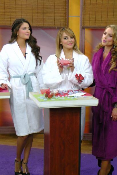 Rosie Rivera escuchó muy atenta los consejos de la guapa Ximena.