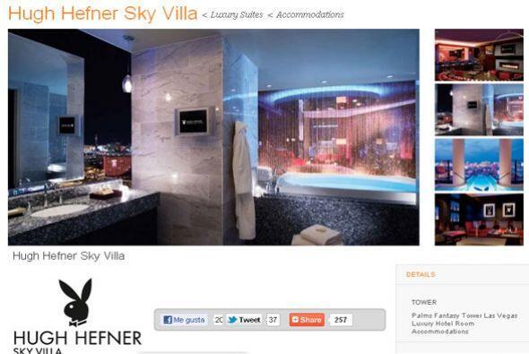 La suite de mayor precio es la Hugh Hefner Sky Villa, o Villa Playboy co...