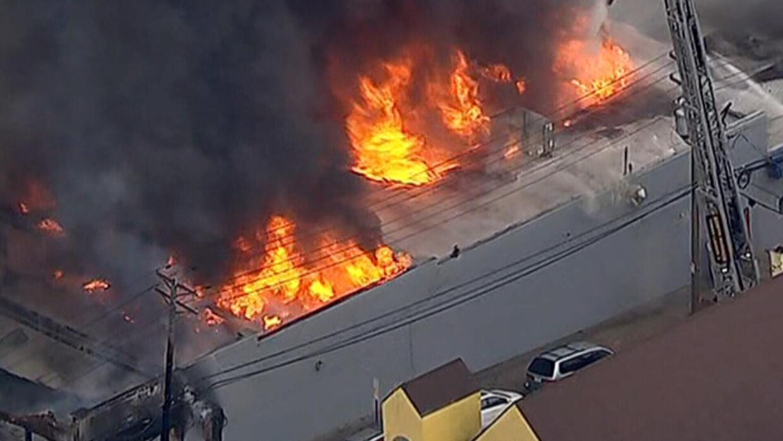 En estas imágenes desde el Unicóptero de Univision 41 se a...