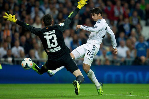 Morata entró en busca de gol y fue el que más ocasiones creo.