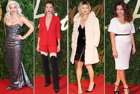 La alfombra roja de Londres en los British Fashion Awards 2013 mostr&oac...
