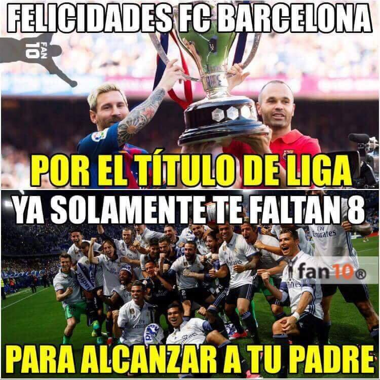 Los memes se acuerdan de Cristiano y Real Madrid en el título de Liga de...
