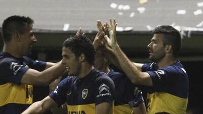 Nicolás Colazo selló el triunfo Xeneize ante Vélez.