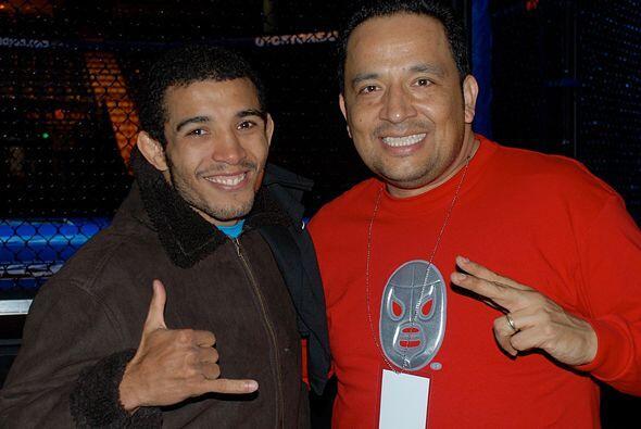 Aldo pudo sonreír antes y después de su pelea.