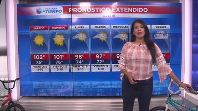 Fin de semana con temperaturas cálidas en Austin