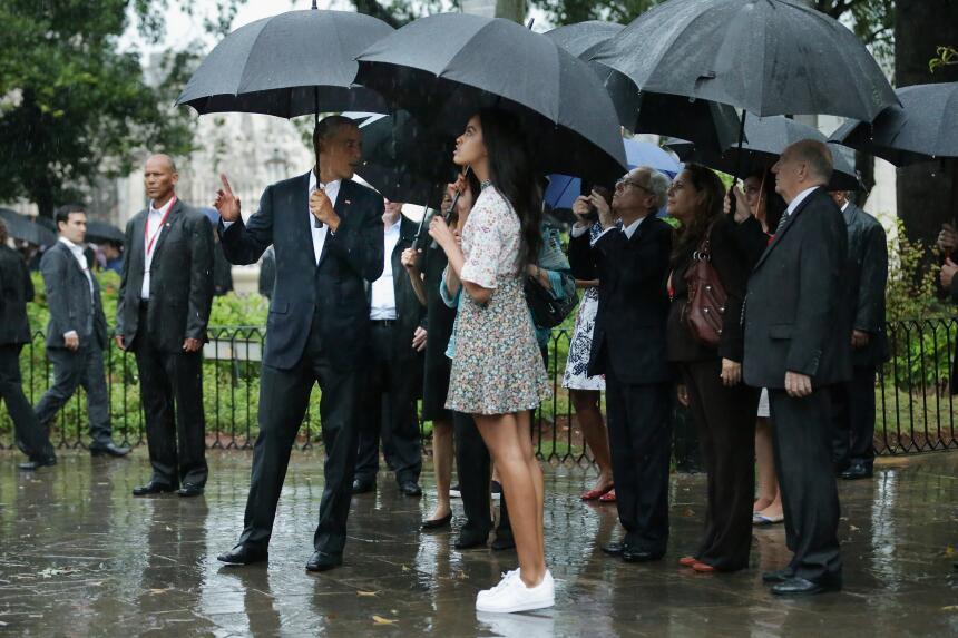 Malia Obama creció dándonos lecciones básicas de moda  GettyImages-51673...