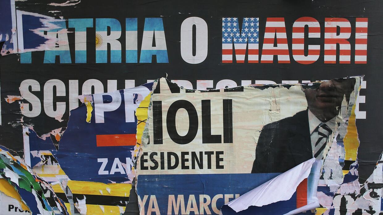 Carteles contra Macri.