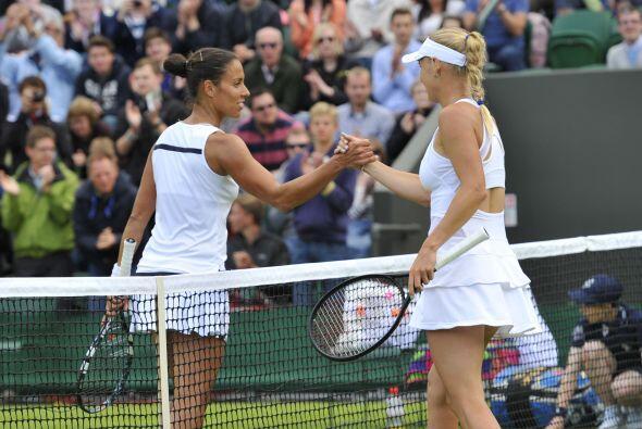 La danesa Caroline Wozniacki acabó con la española Estrella Cabeza Cande...