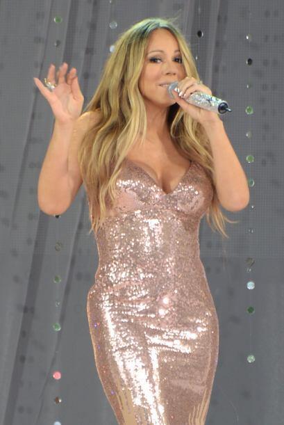 Así llegó Mariah Carey a su presentación en el show...
