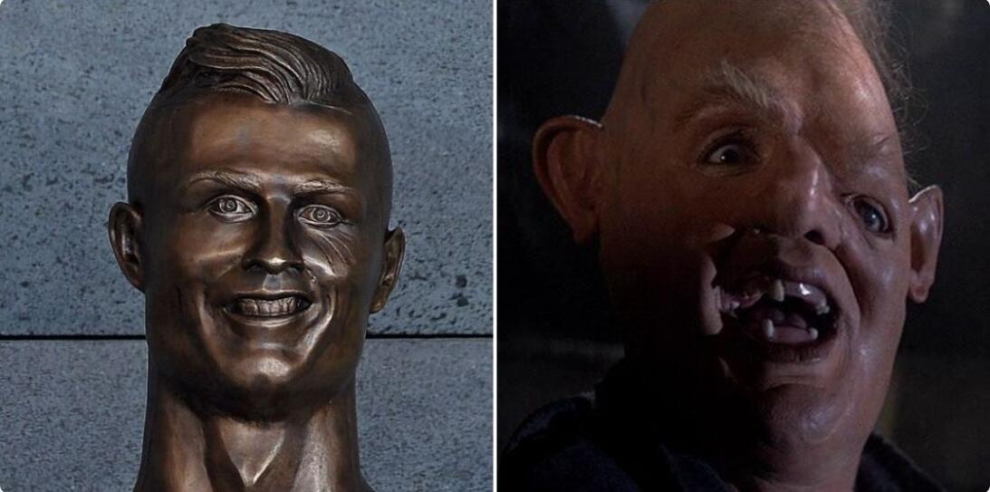 Los memes se burlan de Cristiano Ronaldo y su deforme escultura Captura-...