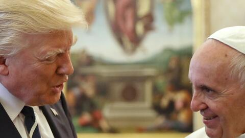 Trump se encontró con su crítico de mayor rango, el papa F...