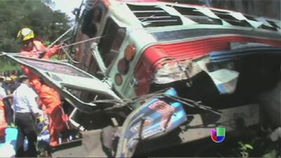 Mortal accidente de autobús en Guatemala