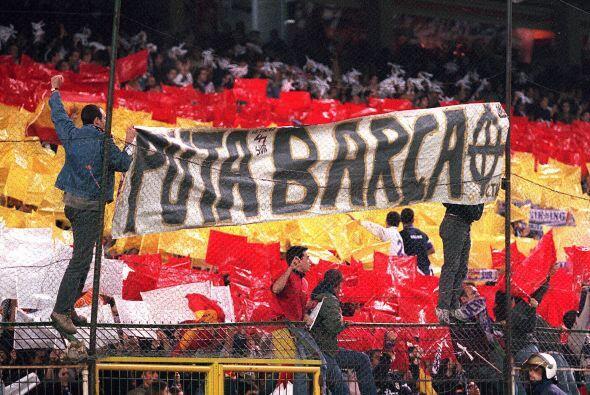 La pasión y el odio, esperemos que sólo deportivo, entre los fanáticos s...