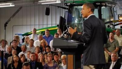 El presidente, de gira por los estados del Medio Oeste, criticó que se l...
