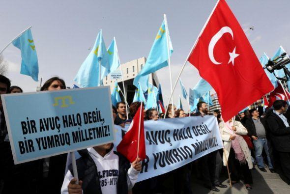 Las protestas también llegaron de naciones como Turquía.