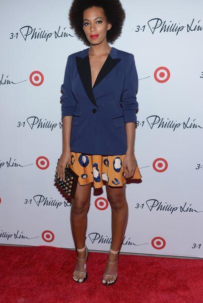 La hermana de Beyoncé, Solange, se veía increíblemente coordinada con su...
