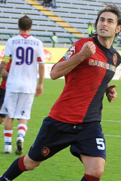 Cagliari y Bologna empataron a uno. Los goles fueron por parte de Daniel...