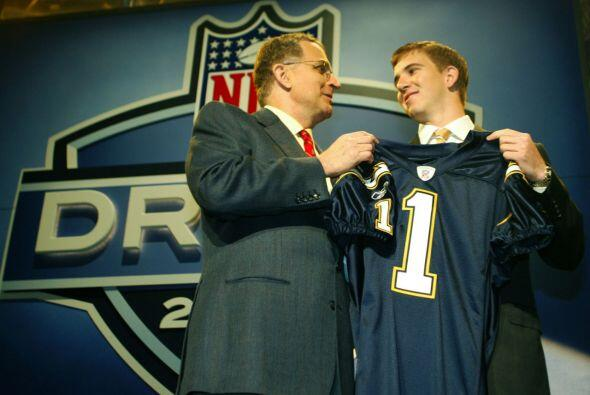 6. Eli Manning (2004).- San Diego Chargers.