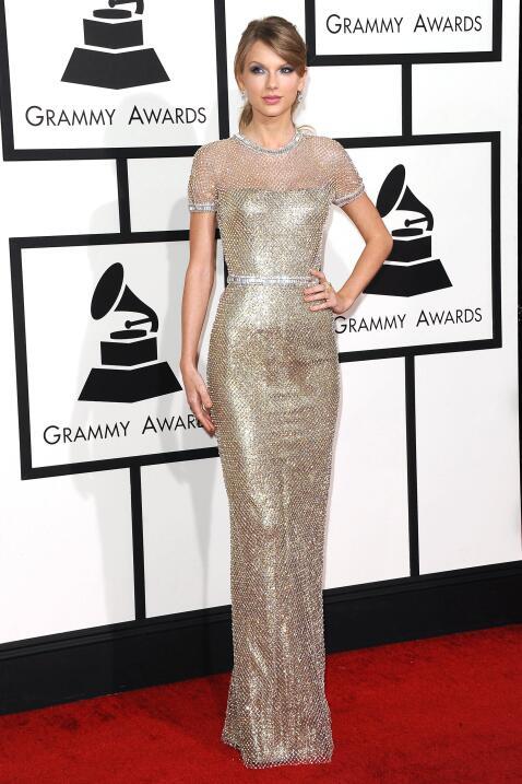 En la alfombra roja de los Grammy de 2014.