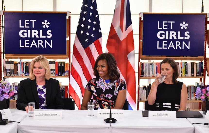 Michelle Obama visita realeza