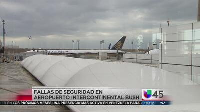 Fallas de seguridad en el Aeropuerto Bush