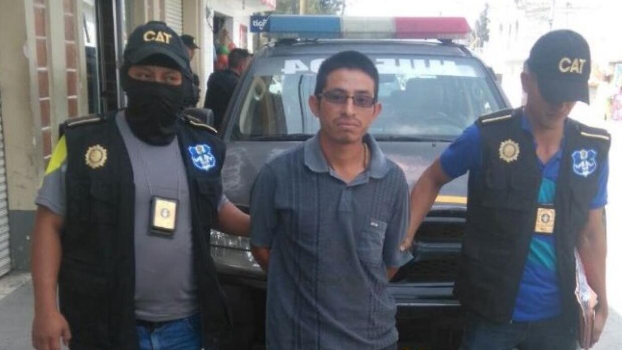 Werner Rafael Francisco al ser arrestado por la Policía de Guatemala el...