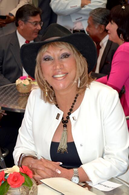 """Laura León """"La Tesorito"""" en la inauguración de la Casa de Tabasco en México"""