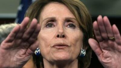 Pelosi, demócrata por California, señaló que aún queda mucho trabajo por...
