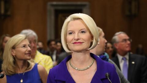 Callista Gingrich durante la primera audiencia ante el Comité de...