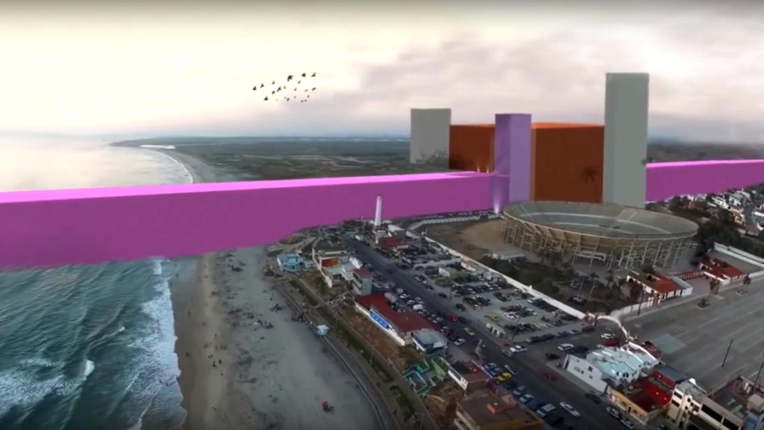 El muro rosa: Diseñado por arquitectos de Guadalajara, México, como una...