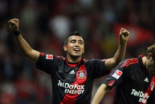 Arturo Vidal  El chileno Arturo Vidal convirtió 10 goles en el Bayer Lev...