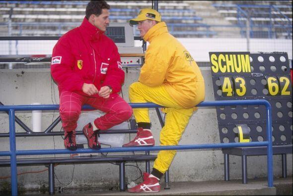 Durante varios años, compartió pista con su hermano Ralph Schumacher.
