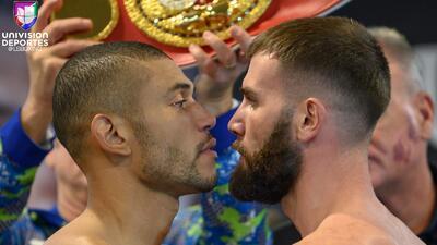 En fotos: Uzcátegui y Plant libran la báscula para su pelea de campeonato en L.A.