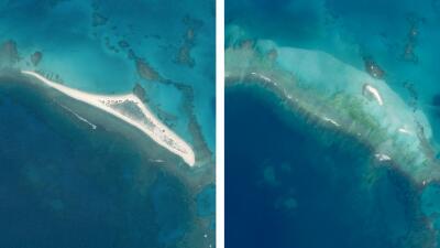 Mira el antes y el después: una isla de Hawaii fue borrada del mapa por un potente huracán