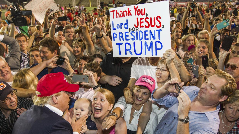 Evento masivo de Donald Trump en Mobile, Alabama