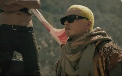 Colombian reggaeton artist J Balvin appears in the music video for his n...