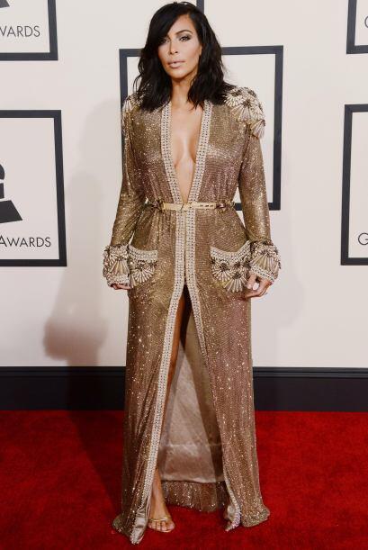 La Kardashian se robó todas las miradas con su sensual atuendo.