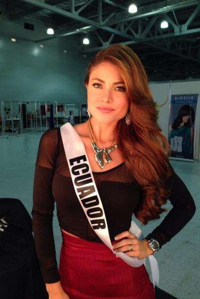 Constanza Báez, Miss Ecuador, también estuvo entre las finalistas.