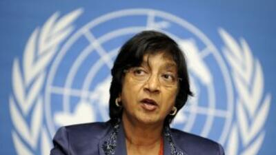 Navi Pillay, alta comisionada de la ONU de Derechos Humanos.