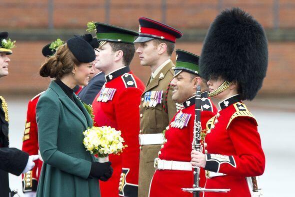 Asistió a un desfile militar del Batallón de la Guardia Irlandesa en la...