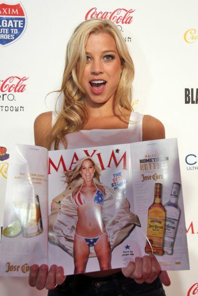 Dominique Storelli, ganadora de un concurso de la revista Maxim, fue la...