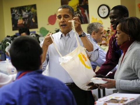 La familia Obama pasó parte del miércoles, previo al D&iac...