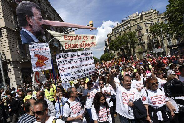 Los sindicatos mayoritarios recordaron los años de crisis que se han viv...