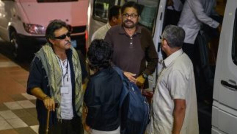 Miembros de la comisión negociadora de las FARC.