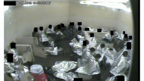 Celdas de la Patrulla Fronteriza donde son detenidos los inmigrantes que...