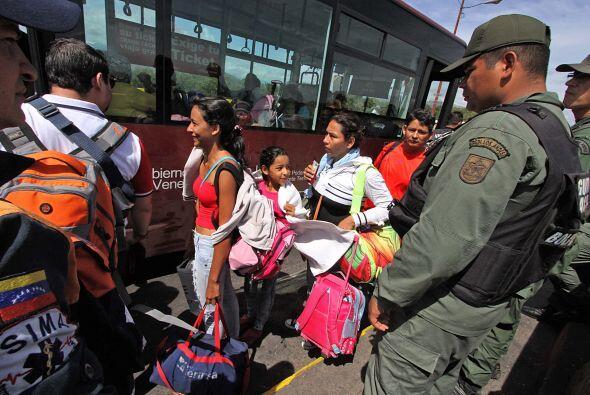 Deportación masiva de colombianos en Venezuela.