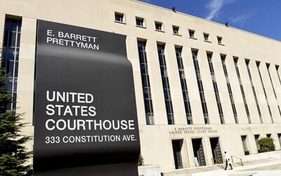 The outside of the E. Barrett Prettyman court in Washington, D.C.