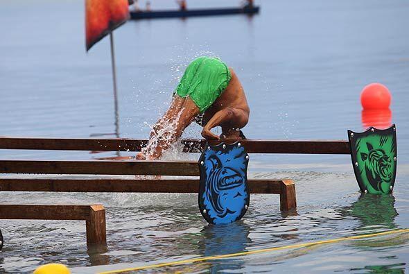 En esta prueba mostró sus mejores habilidades dentro del agua.