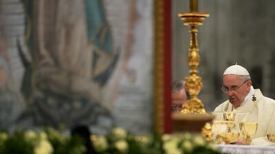 El Papa Francisco celebró misa a la virgen de Guadalupe