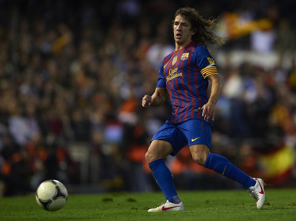 Carles Puyol siempre se destacó por su entrega y gran forma a la...